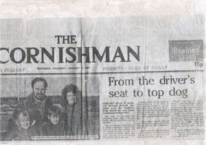 The Cornishman article from 1985